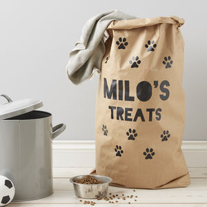 Personalised Pet Storage Sack - food, feeding & treats