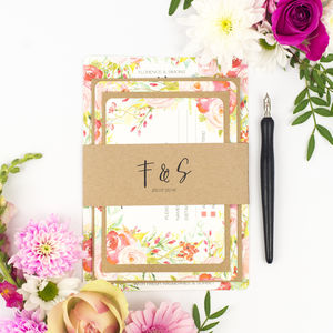 Spring Blossom Wedding Invite Sample Pack - wedding stationery