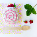 Crochet Pretend Play Strawberry Cake Toy