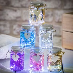 Mini Metallic LED Firefly Jars - children's room