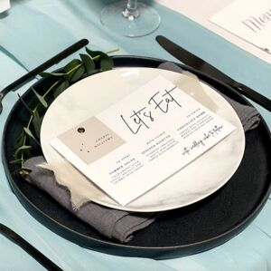 Let's Eat Menu With Place Card