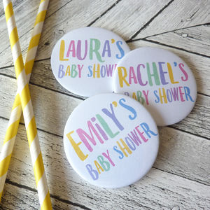 Baby Shower Party Badges - party bags and ideas
