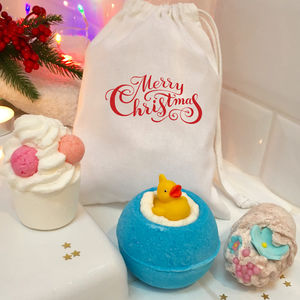 Christmas Rubber Duck Bath Bomb Gift Set