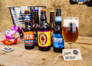 Five Bottle Craft Lager Bouquet - personalised