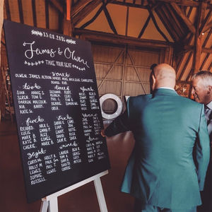 Large Personalised Chalkboard Table Plan - table decorations