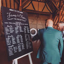 Large Personalised And Bespoke Chalkboard Table Plan