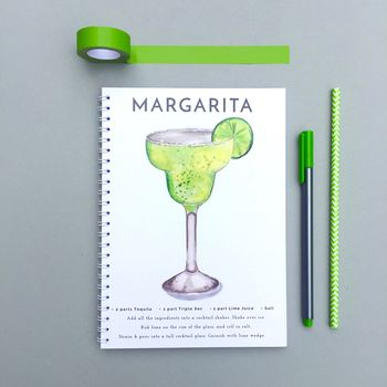 Margarita Watercolour Cocktail Notebook