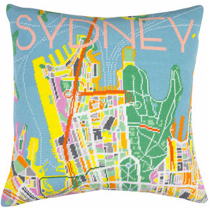 Contemporary Sydney Day City Map Needlepoint Kit
