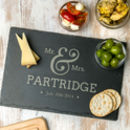 Personalised Mr And Mrs Slate Serving Board