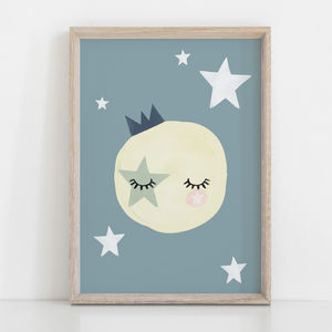 The Sun Is Asleep Children's Nursery Print - new in home