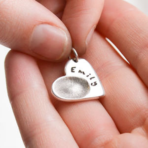Personalised Fingerprint Charm - personalised jewellery
