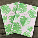 Botanical Grid Monstera Lined Notebook