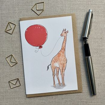Personalised Giraffe Birthday Card