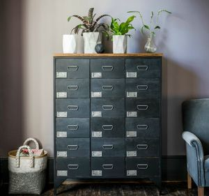 Black Apothecary Chest - furniture