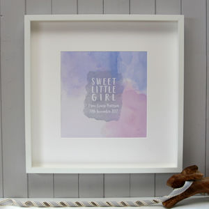 Personalised Baby Girl Nursery Print