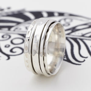 Men's Karma Silver Spinning Ring - rings