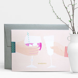 Cheers! Drinks Greeting Card