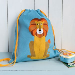 Lion Drawstring Bag - bags, purses & wallets