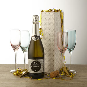 60th Birthday Personalised Prosecco
