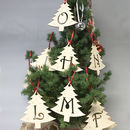Initial Letter Christmas Tree Decorations