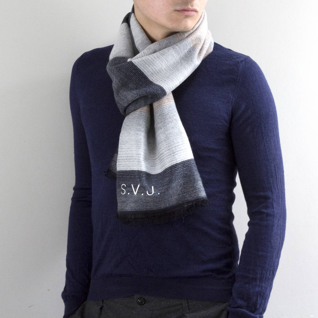 1ed0c2c49 personalised men's cashmere scarf by studio hop | notonthehighstreet.com