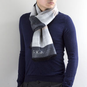 Personalised Men's Cashmere Scarf - scarves