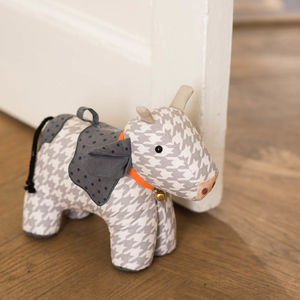 Cow Doorstop - living room