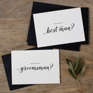 'Will You Be My Groomsman?' Wedding Card