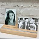 Personalised Wooden Photo Block Frame Set