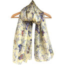 Large Butterfly Pure Silk Scarf