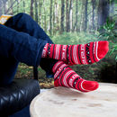 Aztec Red Bamboo Calf Charity Impact Socks