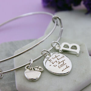 Personalised Bangle For Teacher