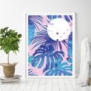 'Abstract Tropical' Art Print