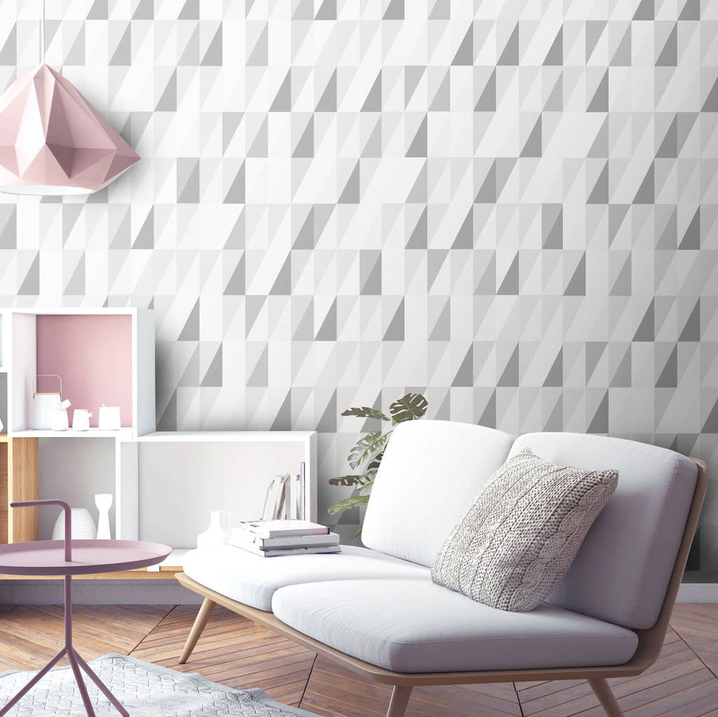 Triangle Geometric Wallpaper By Surface House