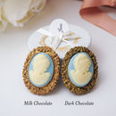 Anne Chocolate Cameo Brooch