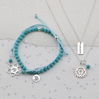 Silver Throat Chakra Jewellery Set