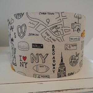 Handmade Lampshade In New York Fabric - lampshades