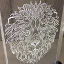 Detailed Lions Head Table Light