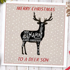 Christmas Card For Men 'Deer snow'