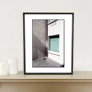Geometry, Window Shutter Photographic Art Print
