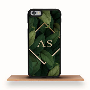 iPhone Case Personalised Art Deco Leaves