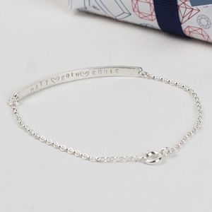 Mother's Heart Silver Bracelet