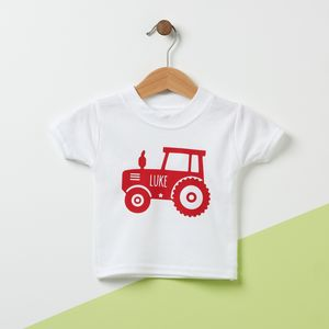 Tractor Personalised Kid's T Shirt