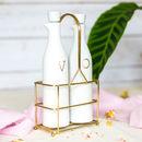 White Ceramic Oil And Vinegar Set