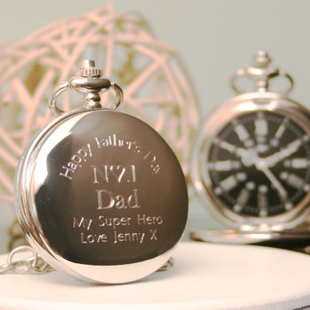 Engraved Pocket Watch Number One Dad