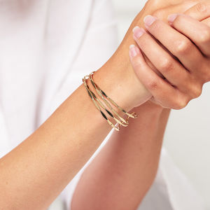 Gold Layered Wave Bracelet