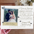 Personalised 10th Wedding Anniversary Photo Card