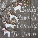 Ceramic Dog Christmas Garland