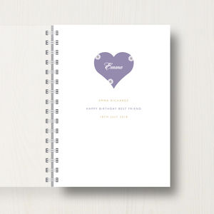 Personalised Best Friend Journal Or Notebook
