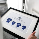 Personalised Football Family Team Framed Print